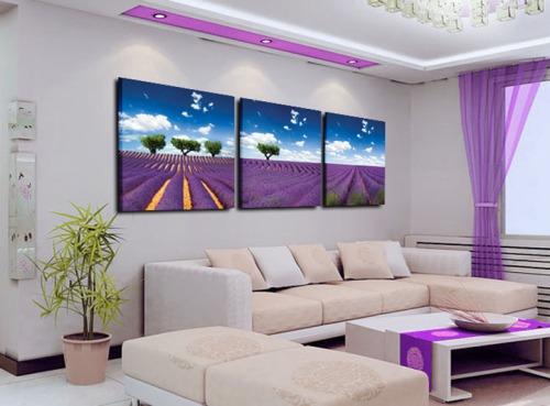 Interior Ruang Tamu Kecil berwarna Ungu (Aliexpress)
