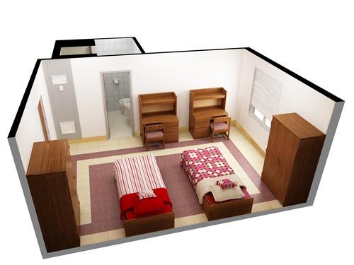 Sketsa kamar anak sera duo (Waplag)