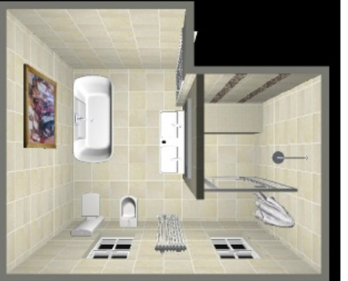 Sketsa kamar mandi model G (Versatilebathrooms)