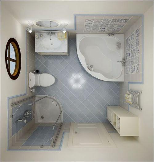 Sketsa kamar mandi persegi (Homedit)