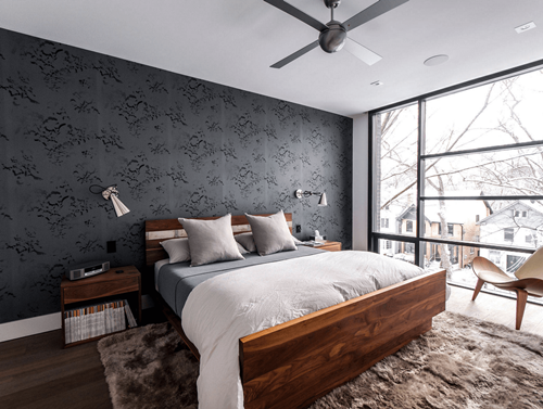 Dinding tumpu pada kamar tidur (Freshome)