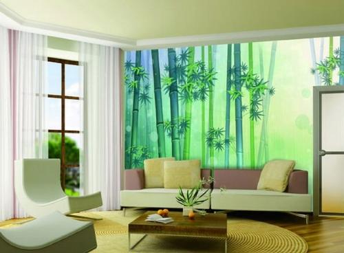 Interior rumah minimalis dengan dinding tumpu lukisan (87ist)