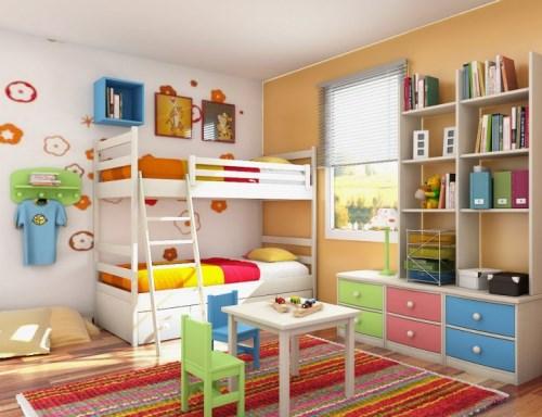 Dekorasi kamar tidur anak bertema pelangi (Topdreamer)