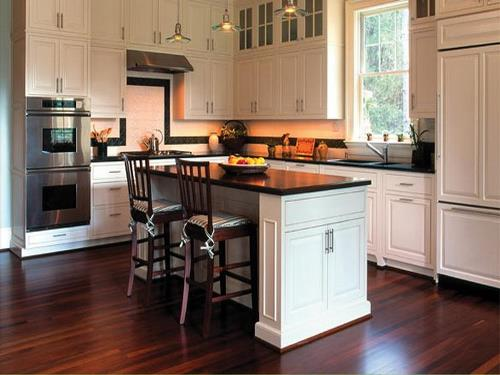 Contoh dapur berlantai kayu alam (Jiwtv)