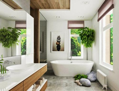 Dekorasi interior kamar mandi energik (Homestolove)