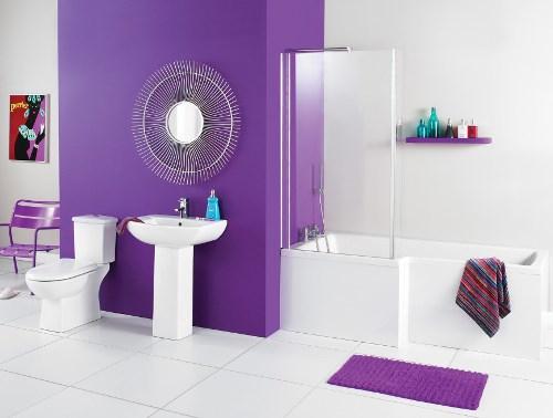 Desain kamar mandi energik dengan kombinasi warna (Luxurybusla)