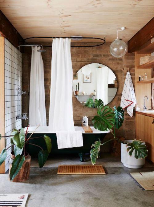 Interior kamar mandi kecil bernuansa hidup (Decorationgoals)