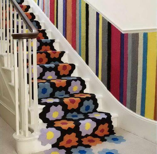 Memperbaharui tampilan tangga rumah dengan karpet (Drawhome)
