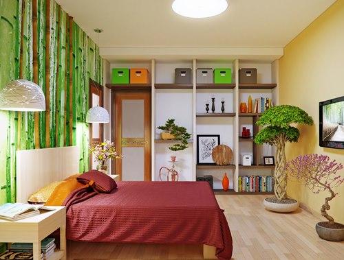 Dekorasi rumah alami dengan elemen bambu (Home-designing)