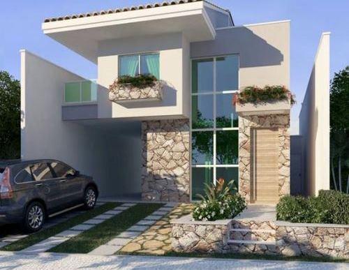 Fasad Rumah Modern Minimalis dengan siding (Decorandocasas - Pinterest)