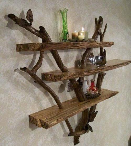Rak dinding unik dan artistik dari kayu apung (Homesthetics)