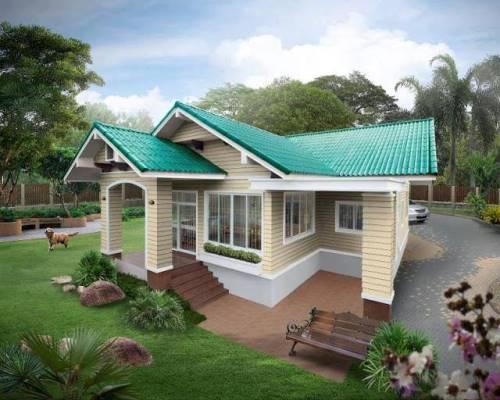 Rumah minimalis dengan full-siding (Inspirasi Kehidupan - Facebook)