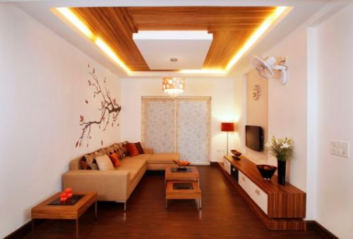 Aplikasi bahan plywood untuk plafon minimalis