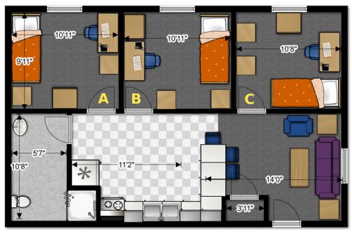 Contoh Denah Rumah Minimalis 3 Kamar Tidur 1 Lantai