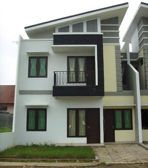 Contoh Desain Rumah Minimalis Modern Type 45 2 lantai