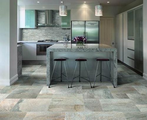 Contoh dapur berlantai batu (Flooringmagz)
