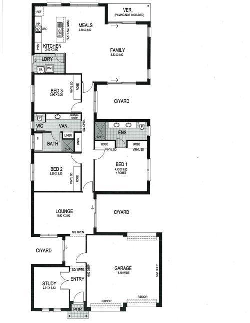 Contoh denah rumah 3 kamar tidur dan 2 garasi