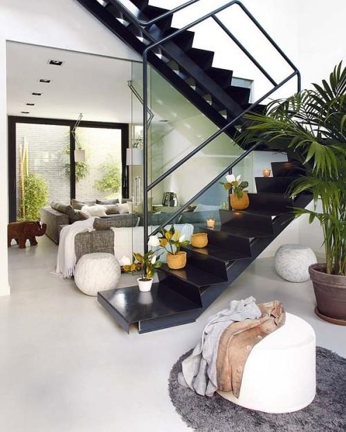 Contoh desain interior rumah mungil 2 lantai