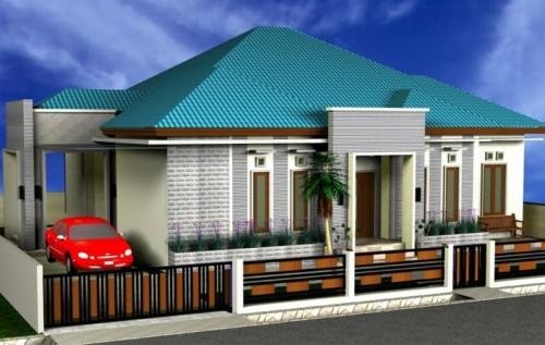 Contoh desain rumah mewah 1 lantai
