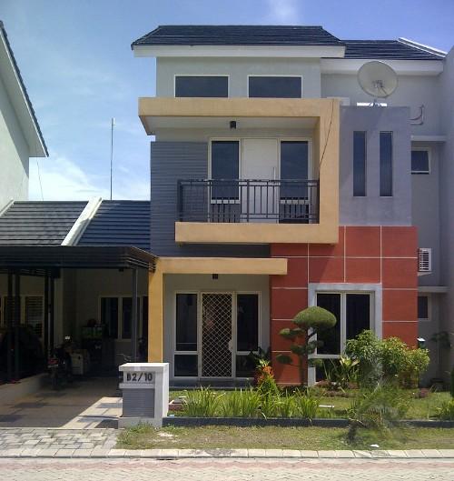 Contoh desain rumah minimalis 2 lantai type 60