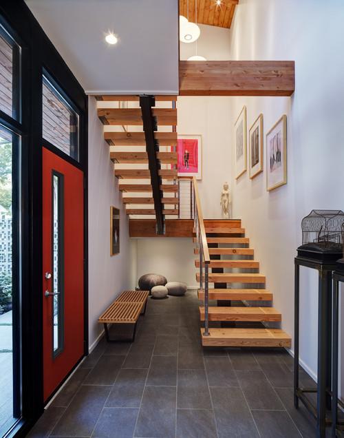 Contoh foto tangga di rumah minimalis 2 lantai