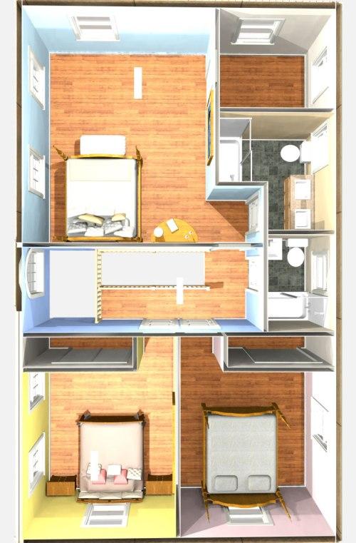 Contoh interior lantai 2 rumah tingkat minimalis