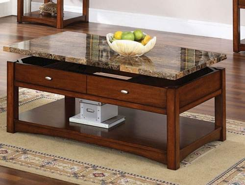 Contoh meja ruang keluarga dari batu pualam (Cutedecision)