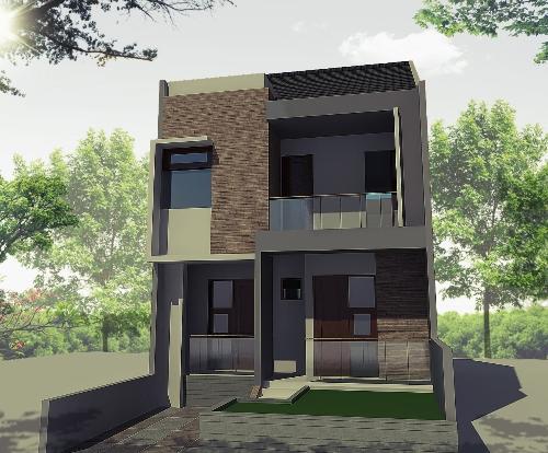 Contoh model rumah tingkat minimalis sederhana