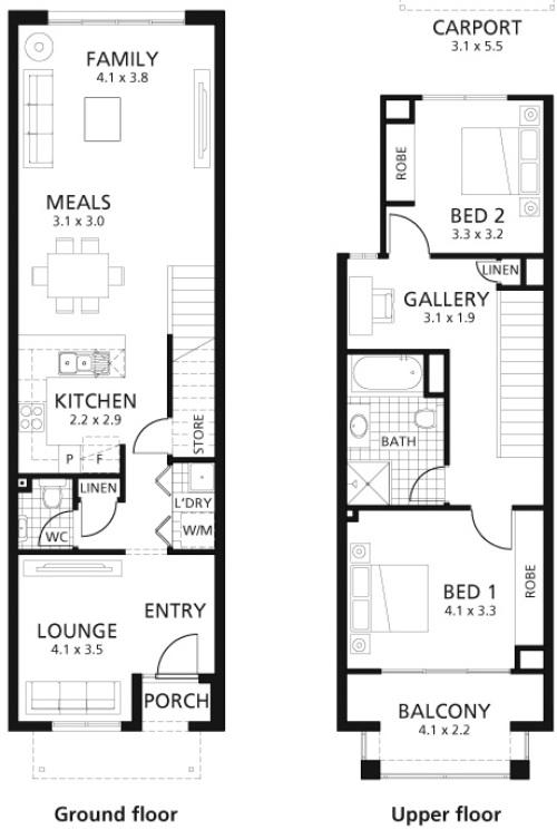 Contoh pembagian ruang di rumah 2 lantai minimalis - Houseandland