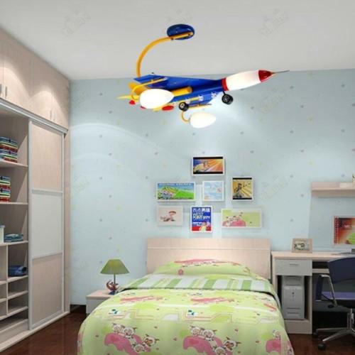 Contoh pencahayaan kreatif pada kamar tidur anak (Creativebedroomvanity)