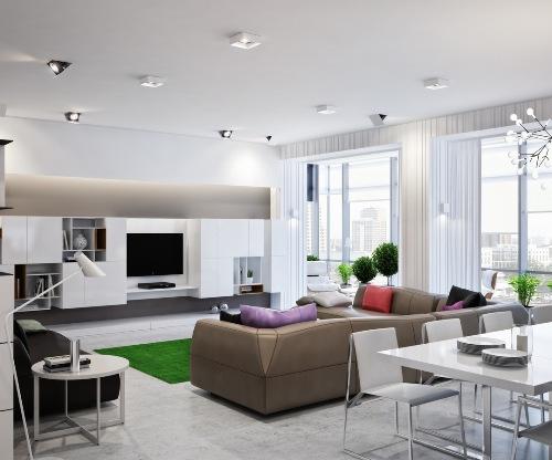 Contoh ruang tamu dengan konsep open plan - Home-designing
