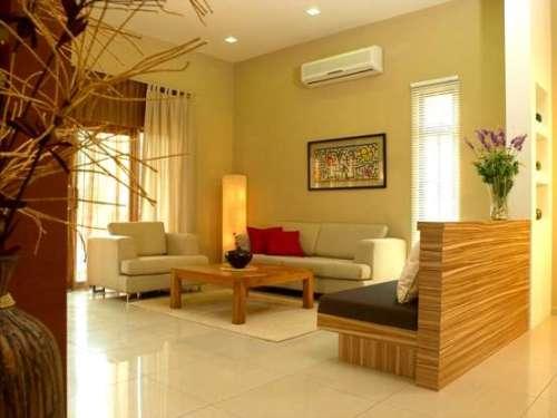 Contoh ruang tamu modern tanpa sekat