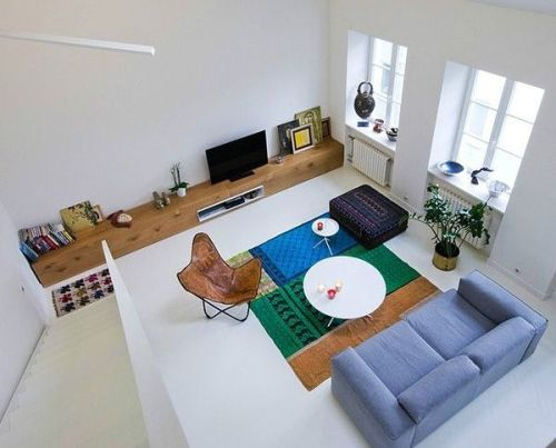 Contoh ruang tamu multi-fungsi di rumah type 36