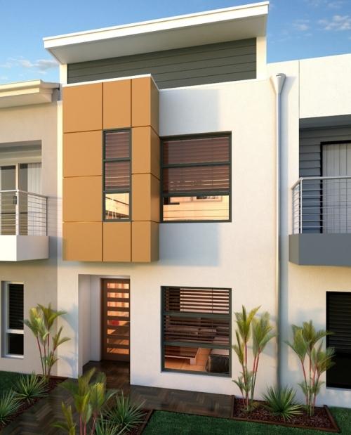 Contoh rumah minimalis 2 lantai modern dengan atap datar
