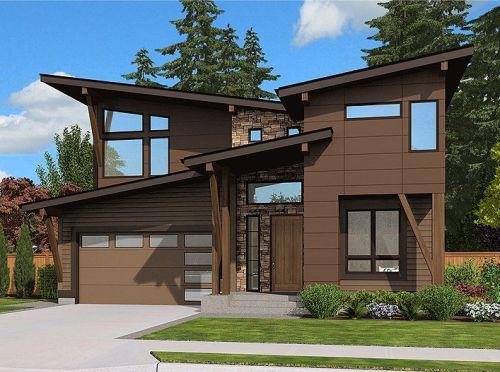 Contoh rumah minimalis 2 lantai type 90 dengan desain unik