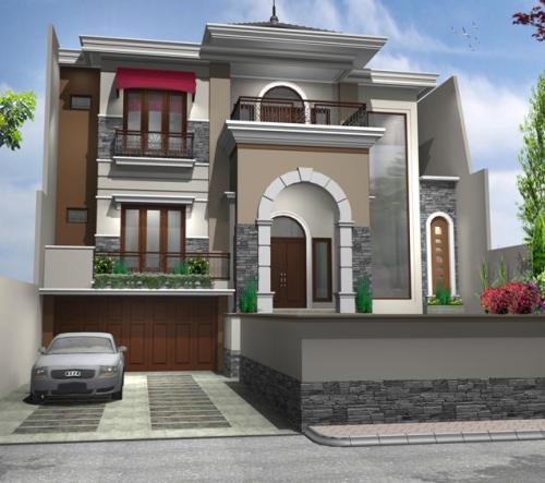 Contoh rumah minimalis gaya Mediterrania
