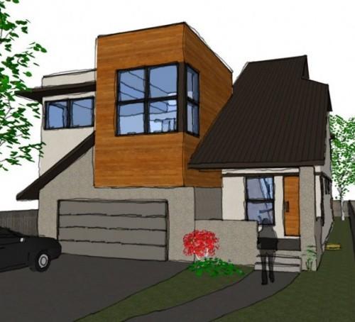 Contoh sketsa atap minimalis datar dan sandar