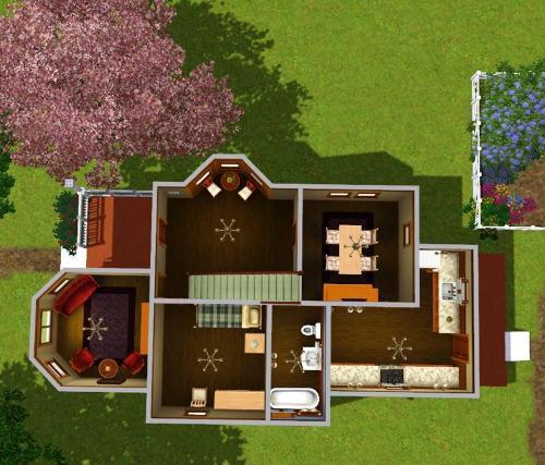 Contoh sketsa rumah dengan bay window - modthesims2