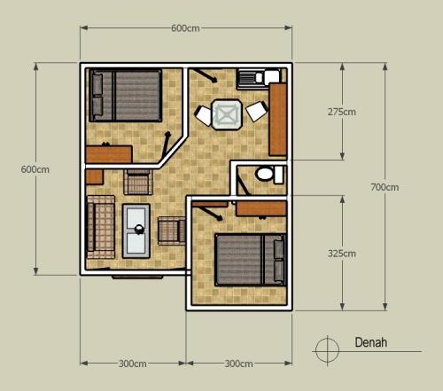 contoh sketsa rumah minimalis type 36