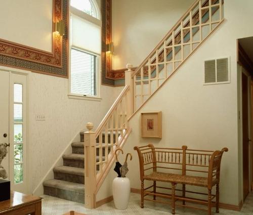 Contoh tangga di rumah tingkat minimalis