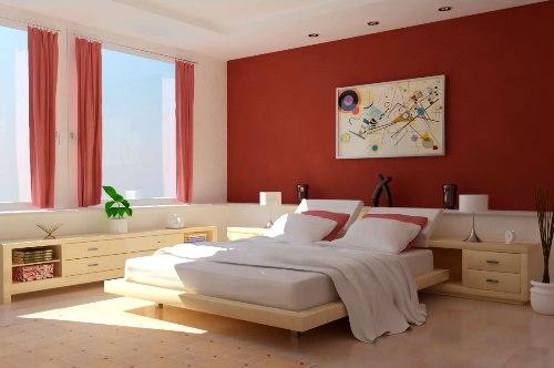 Contoh tata ruang kamar minimalis dengan paduan 2 warna