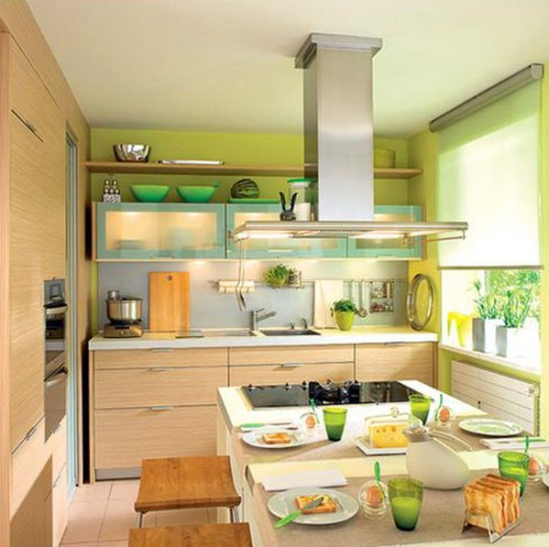 Dapur Go-Green dengan Jendela outdoor (Decor4all)