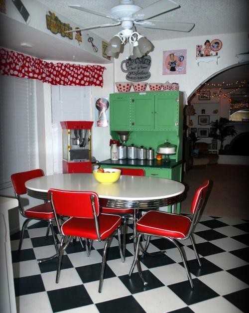 Dapur khas bergaya retro