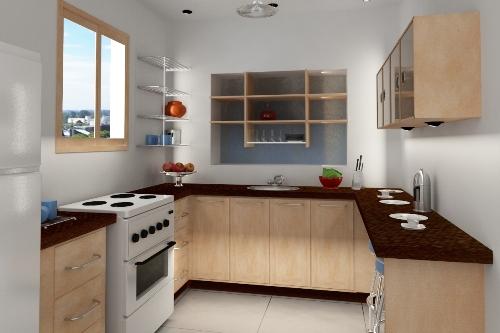 Dapur minimalis modern dengan kitchen set senada