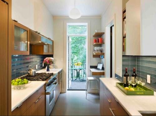 Dapur model double lne dengan nuansa terbuka - Fixithouse