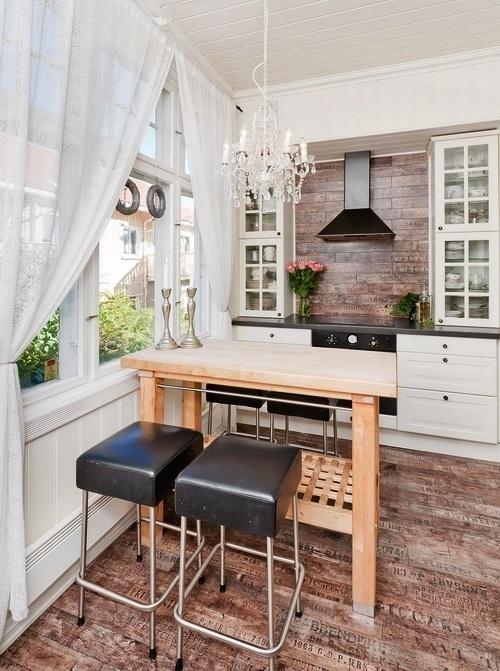 Dapur tradisional dengan lantai kayu - Eatwell101