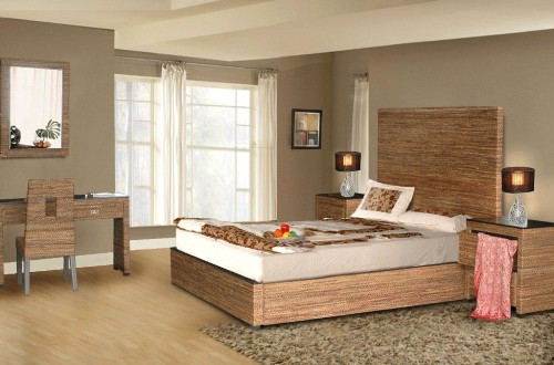 Dekorasi kamar tidur minimalis dengan elemen kayu