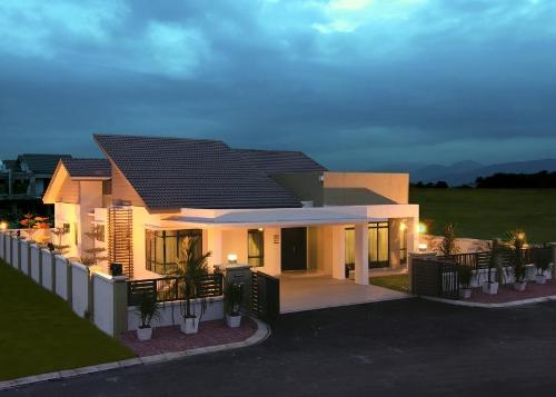 Denah Rumah Minimalis 1 Lantai Bergaya Asia