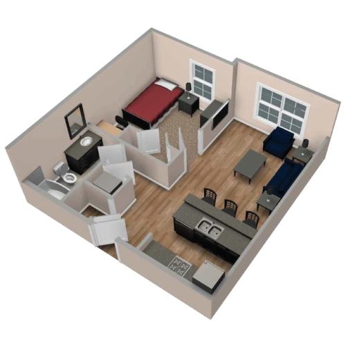 Denah rumah type 21 minimalis 1 lantai