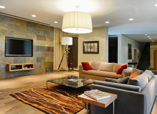 Desain Interior Ruangan Rumah Dengan Perpaduan Motif